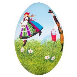 Ręcznie malowana pisanka łowicka - gęsie jajo - śmigus dyngus