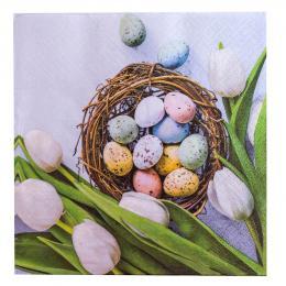 Serwetki papierowe - jajka i tulipany